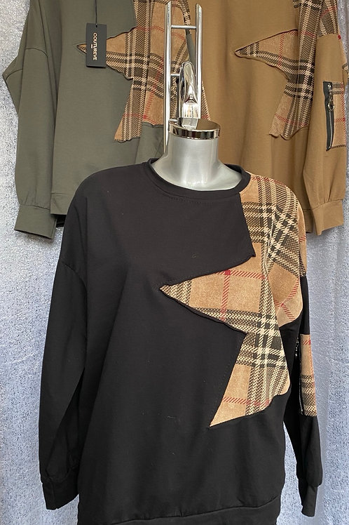 Black   Burberry Inspired sweatshirt fitting from a size 10 to 16