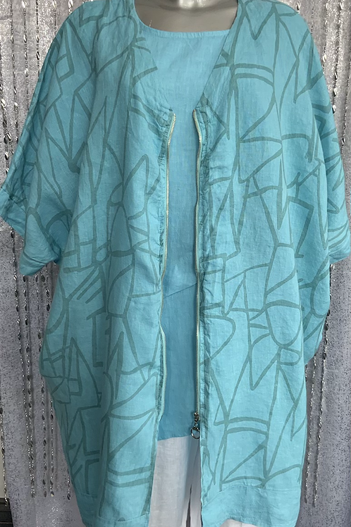 Turquoise Ivy Jacket fitting up to a size 22
