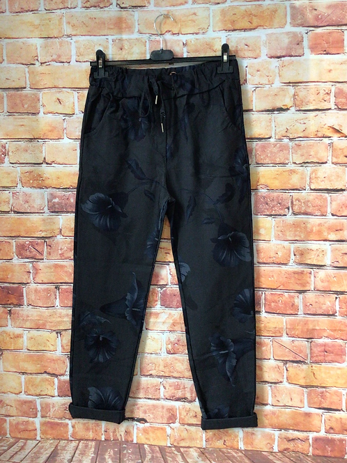 Charcoal 'wow' pants. Fits up to size 16