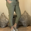 Thumbnail: Khaki Magic Plain Super Stretch Crushed Trousers fitting 8-18