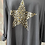 Thumbnail: Charcoal foil animal print star fan back, fitting up to a size 22