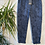 Thumbnail: Navy snake print magic joggers, fitting up to a size 20.   0901