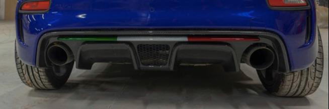 Couvercle de lèvre de diffuseur arrière Abarth 595