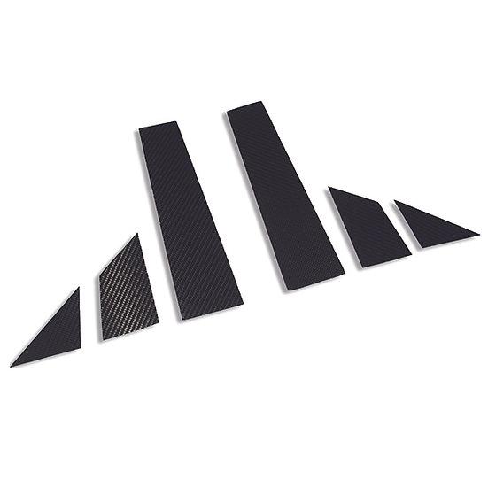 Panneaux de porte / Pilier B 595 carbone