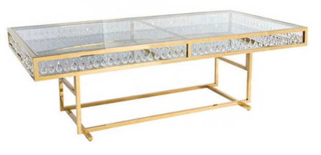 Gold Glass table