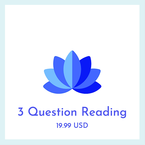 3 Question Card Reading