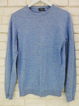 Pull bleu chiné