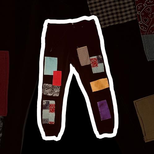 Black Patchy Pants