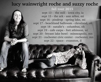 Lucy Wainwright & Suzzy Roche Announce 2015 Fall Tour