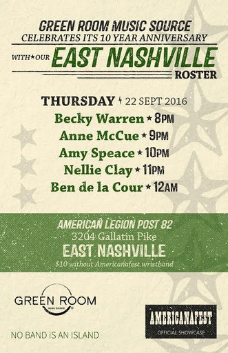 GRMS Americanafest THUR Lineup
