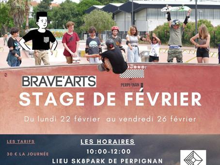 Stage de skateboard Vacances de février 2021