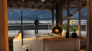 Air Chalets/ interiores