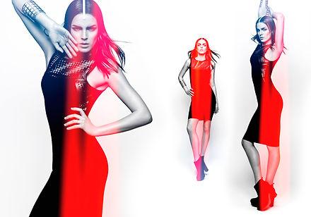 kriss logan, photographe, mode, fashion, éditorial, flaslight, red, color
