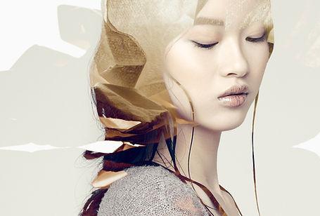 kriss logan, photographe, mode, fashion, éditorial, asian girl, gold, lips