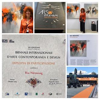 Florence Biennale XII deelname Ria Nieswaag
