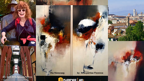 Schilderijen Ria Nieswaag Artexpertise Florence, Art Symposium