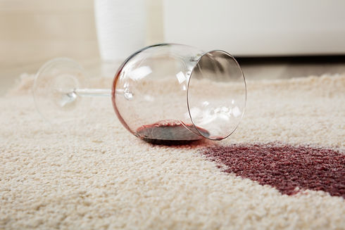 High Angle View Of Red Wine Spilled From