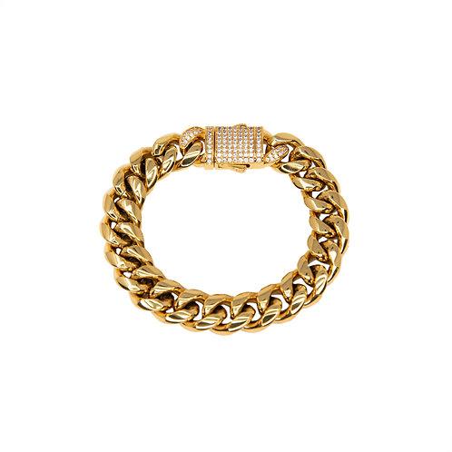 Bracelet cuban link classique 12mm Or