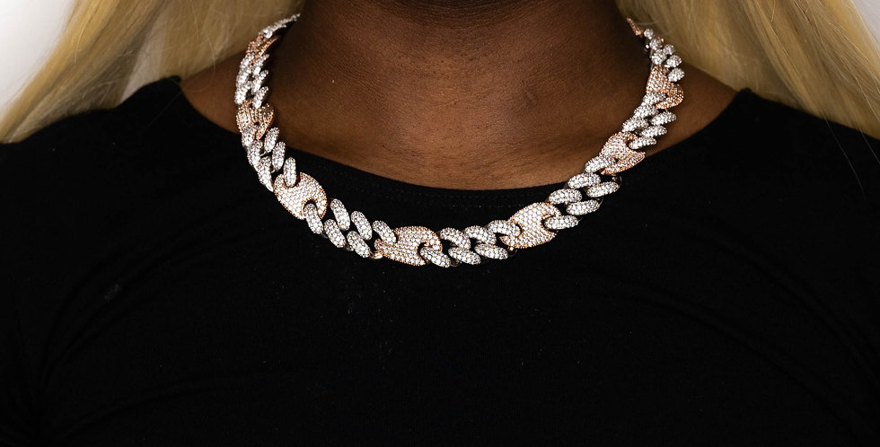 GUCCI LINK 16MM ROSE GOLD/SILVER