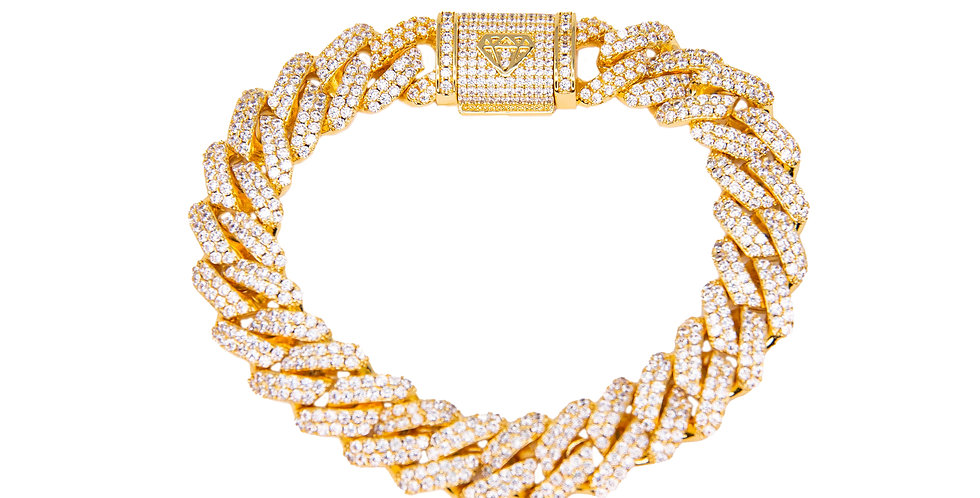 VVS - Bracelet Prong cuban 12MM Or