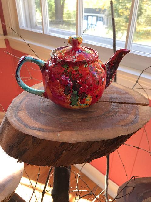 Handpainted 2 cup Tea Pot