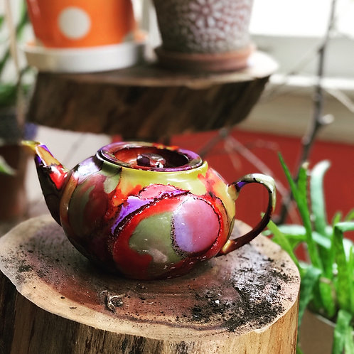 Hand painted Tea Pot 2cup