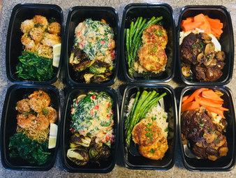 Meal Prep: Crab Cakes, Tuscan Chicken, Salisbury Steak, Shrimp