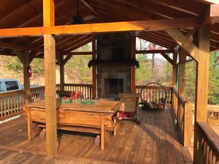 Enjoy the new covered deck pavilion!