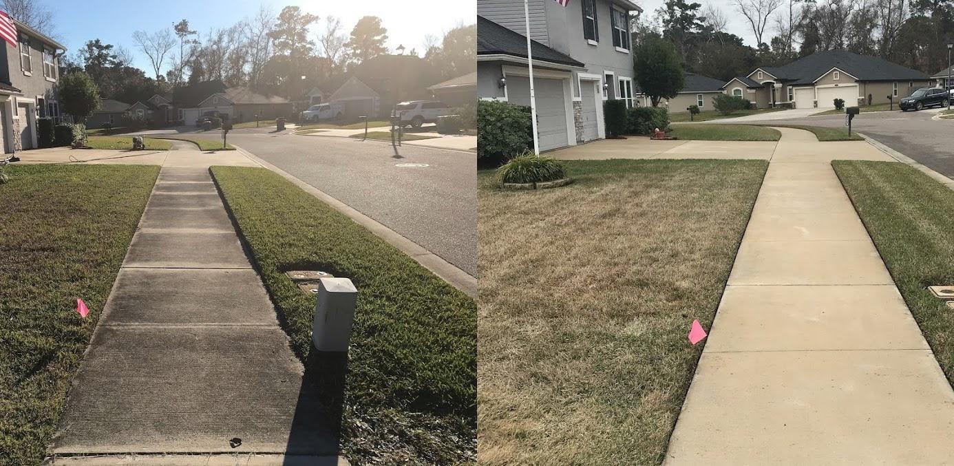 Driveway / sidewalk pressure washing, Fernandina Beach FL