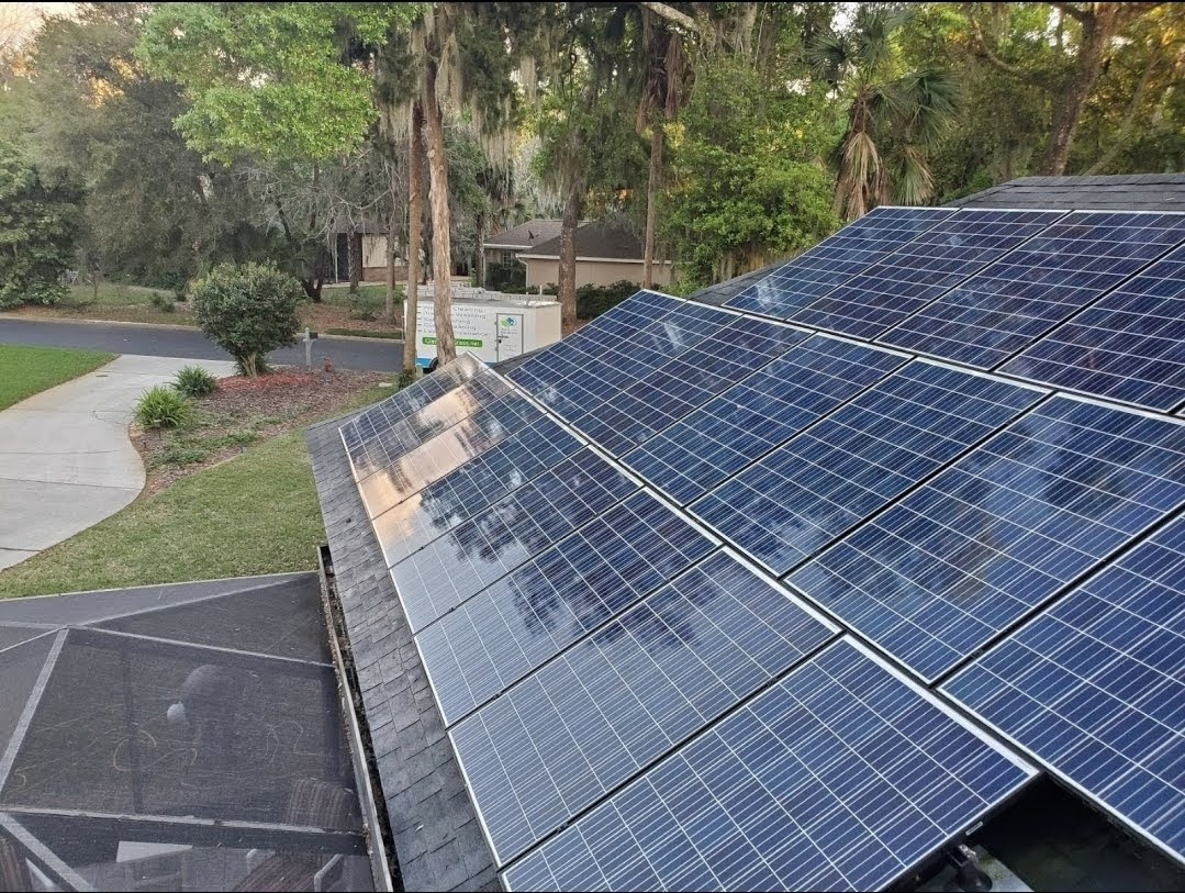 Solar Panel Cleaning on Amelia Island Florida