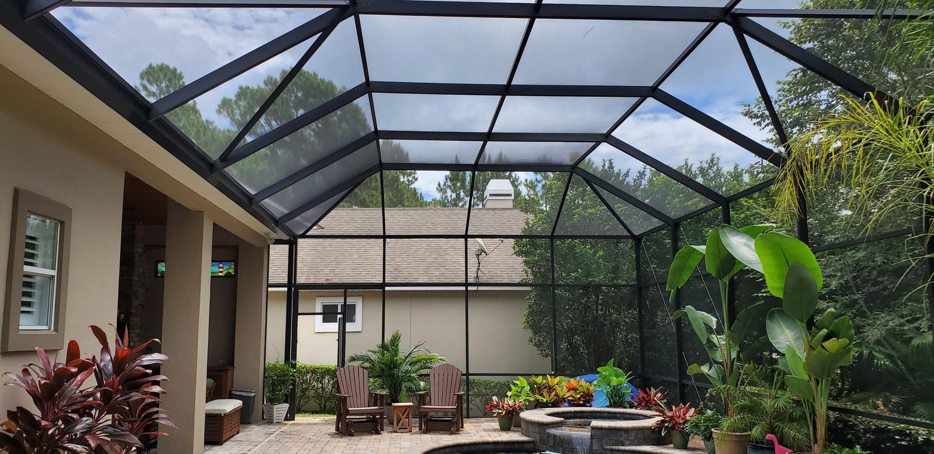 Lenai, screened enclosure and pool deck cleaning