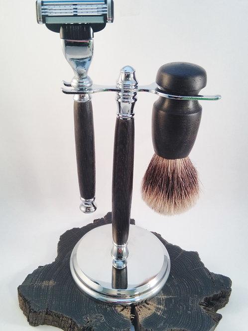 Irish Bog Oak shaving set