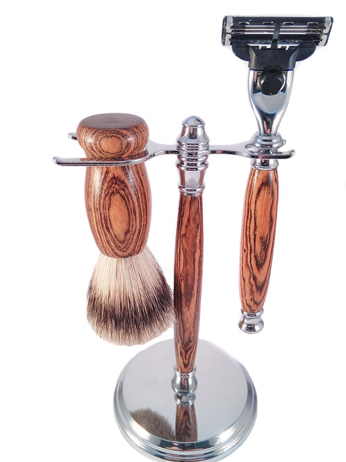 Bocote wood shaving set