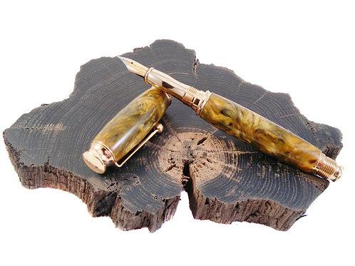 Butterscotch swirl acrylic fountain pen