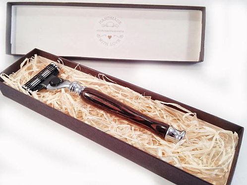 Wenge wood razor