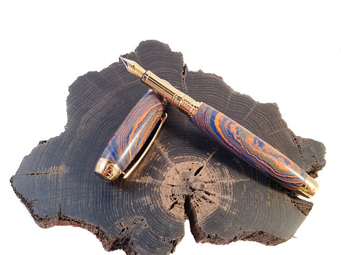 kaleidoscopic Ebonite fountain pen