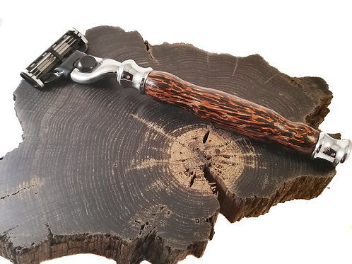 Black palm wood mach3 razor