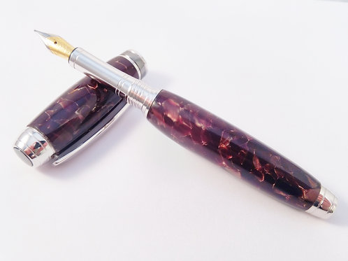Conway Stewart flecked Italian acrylic and rhodium fountain pen
