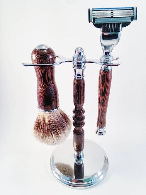 Wenge wood shaving set