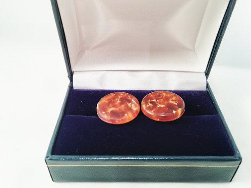 Conway Stewart amber cufflinks
