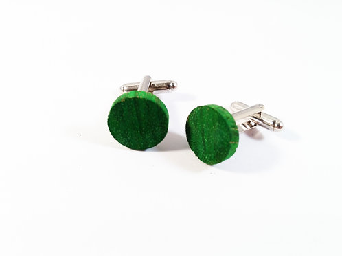 Dyed Zebrano wood Cufflinks