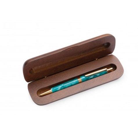 Oblong Walnut Single Pen Box