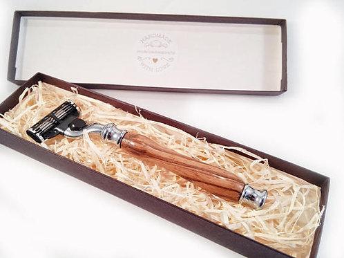 Zebrano wood razor