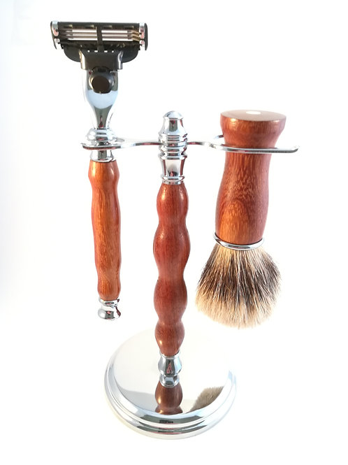 Bubinga wood shaving set