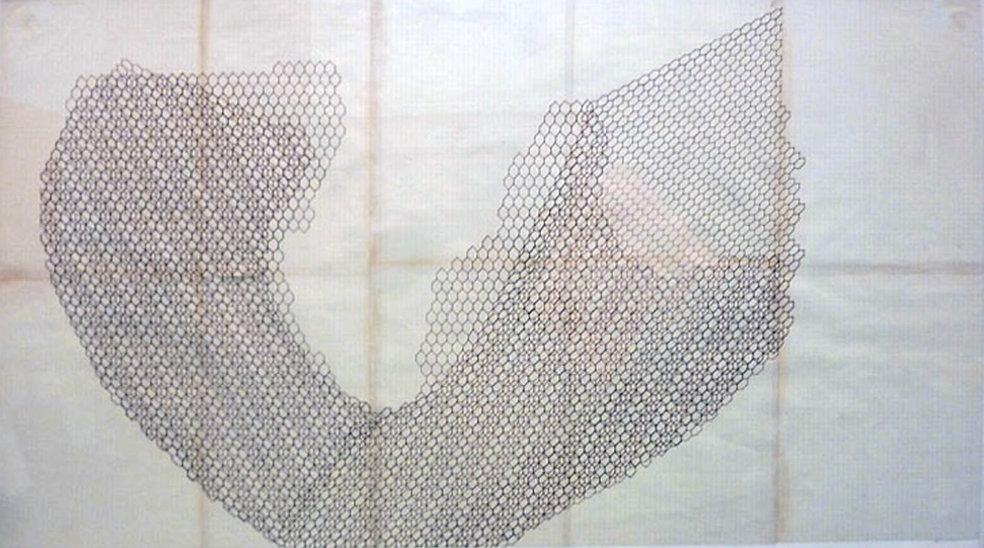 Eccentric Abstraction chicken wire drawi