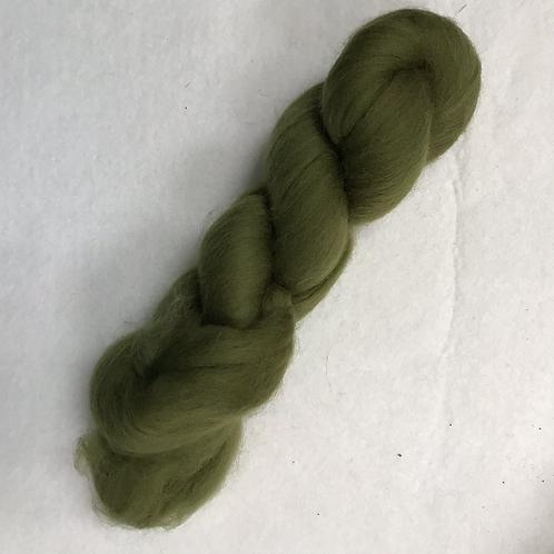 Fine Merino Wool Roving-Olive