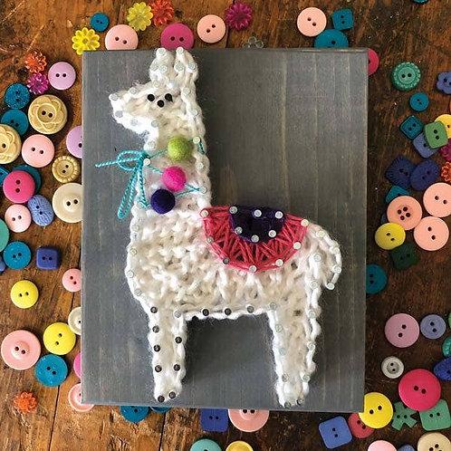 Llama Mini String Art Kit - DIY