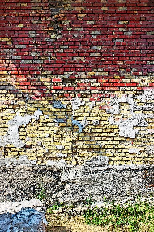 """""""Old Alley - Brick Wall"""" by Cindy Medlynn"""