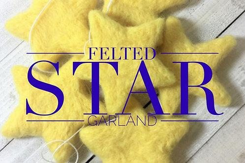 MCO Needle Felt a Star Garland