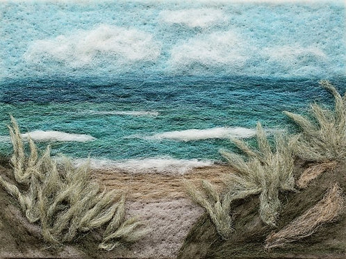 Felted Sky- Ocean View Needle Felting Kit